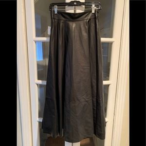 NWT Loewe lamb leather flared midi skirt. Size 38